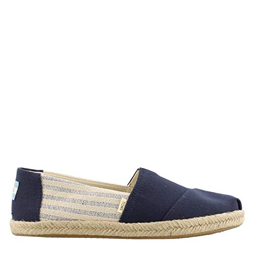 TOMS Women's Alpargata on Rope Navy Ivy League Stripes On Rope 11 B US