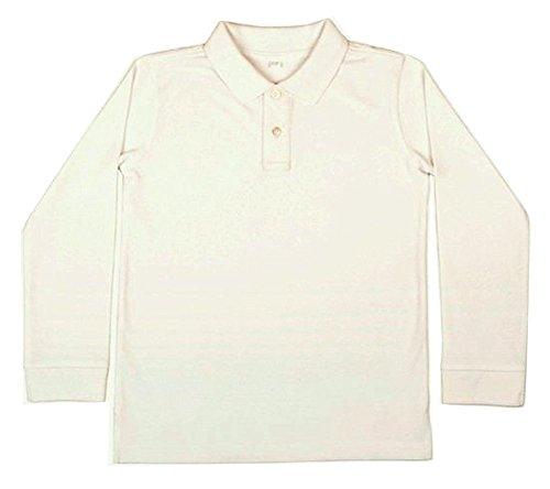 410fJN46GrL Polo manga larga uniforme escolar Ideal para el uniforme de colegio 100% Algodón
