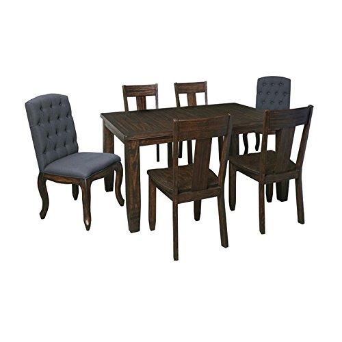 Ashley Trudell 7 Piece Dining Set in Dark Brown