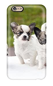 Iphone 6 Hard Back With Bumper Silicone Gel Tpu Case Cover Puppies