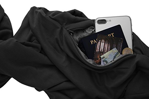 TRAVEL SCARF by WAYPOINT GOODS // Infinity Scarf with Hidden Pocket (Onyx)