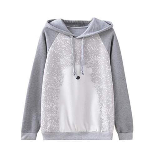 Long Sleeve Polar Fleece Top (Women top ,IEason Women Long Sleeve Warm Polar Bear Print Fleece Hoodies Blouses Shirts Tops (M, Gray))