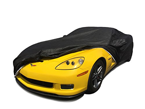 CarsCover Custom Fit C6 2005-2013 Chevy Corvette Car Cover for 5 Layer Heavy Duty Waterproof Black Ultrashield (2007 2008 Car Cover)