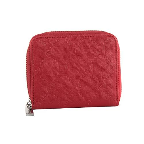 14d80e41a cartera mujer PIERRE CARDIN rojo compacto con abertura zip 30% de descuento