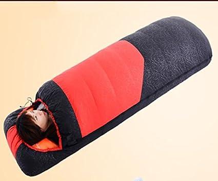 Camping bolsas de dormir, invierno abajo espesor caliente acampar al aire libre saco de dormir