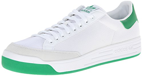 adidas Originals Men's Rod Laver Sneaker, White/White/Fairway, 10 M US ()