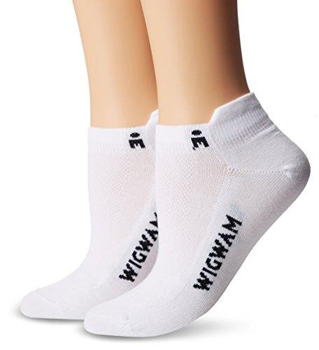 Wigwam Women's Ironman Lightning Pro Low Cut Running Sock 3-Pack, White/White/White, Medium