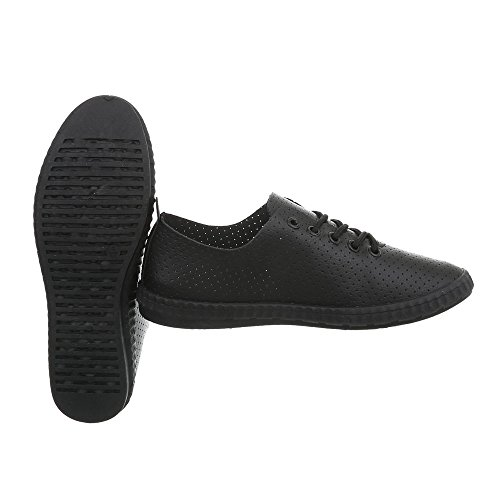 Ital Piatto Low Donna Da Scarpe Nero Sneaker Sneakers 1838 2 design qwaqPAx6