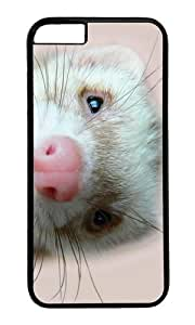MOKSHOP Adorable ferret Hard Case Protective Shell Cell Phone Cover For Apple Iphone 6 (4.7 Inch) - PC Black
