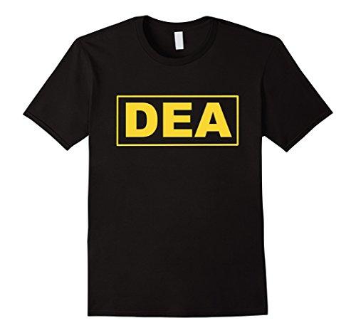 Mens DEA T-Shirt Guards Uniform Law Enforcement Tee 2XL Black
