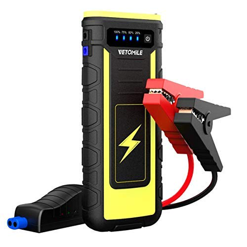 ar Jump Starter Booster Portable 21000mAH Auto Battery Charger Power Bank with USB charge Port and Flashlight,for Engines up to 6.5L Gas and 3.0L Diesel or Pickup Truck ()