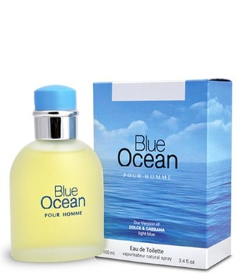 Blue Ocean by Mirage Brand Fragrance inspired by LIGHT BLUE BY DOLCE & GABBANA FOR (Juniper Scented Eau De Toilette)