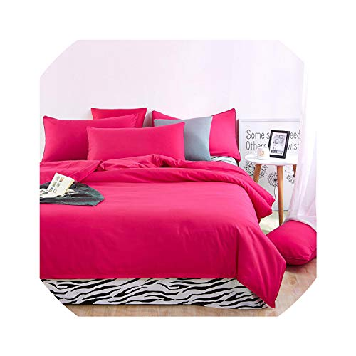 Bedspreads Bedding Sets Simple Wine Red Deep Purple Striped Bed Sheet Duver Quilt Cover Pillowcase Soft Comfortable King Queen Full Twin,Zebra Rose Red,King Cover 220By240