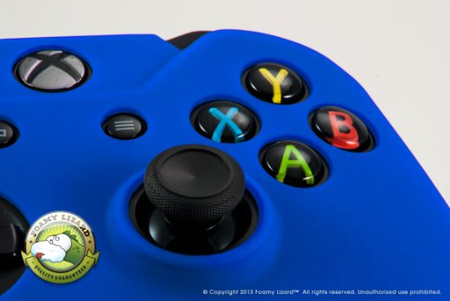Controller Skin for Xbox One by Foamy Lizard (TM) [VALENTINES DAY SALE] ChameleonSkin (Individual) Protective Anti-slip Silicone Grip Case Cover For Wireless Xbox One (Battle - Blue)