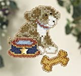 My Best Friend Beaded Counted Cross Stitch Ornament Kit Mill Hill 2007 Spring Bouquet MH18-7104