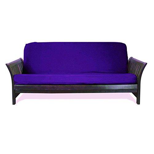 Magshion Fit 8~10 Inch Futon Mattresses Futon Cover Slipcover (Full (54x75 in.), Purple) (Cover Futon Purple)