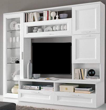 Dafnedesign.com - Parete componibile per soggiorno - Colore: bianco ...