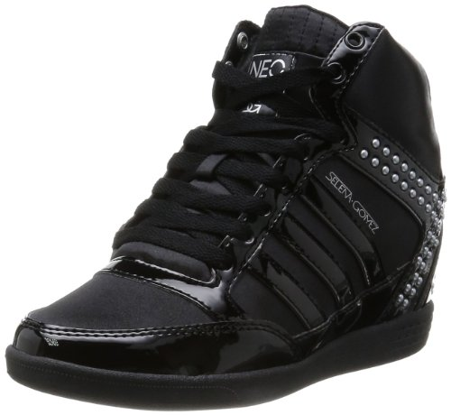 607b25f156e ... shop adidas neo selena gomez bbneo wedge shoes black metal silver  womens buy online in uae