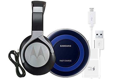 Official Samsung Fast Qi Wireless Pad & Adaptive Fast Charger - Headphones W/Mic Pulse Max - Refurbished