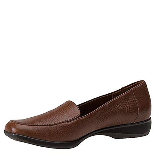 Soft Tumbled Frauen Trotters Mid Leder Brown Loafers wZaxqTvX