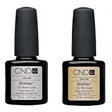 CND Shellac UV Top Coat and Base Coat Set ,0.25oz