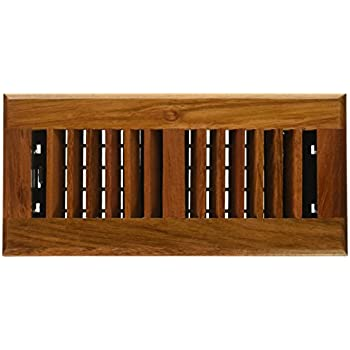 Decor Grates WLC410 N 4 Inch By 10 Inch Wood Floor Register,