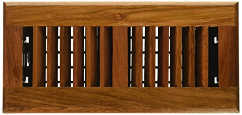 Decor Grates WLC410-N 4-Inch by 10-Inch Wood Floor Register, Solid Cherry Natural ()