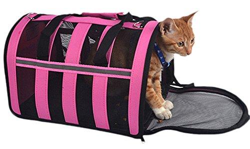 [Freerun Soft Sided Pet Carrier Pet Dog Cat Carrier Bag Pet Sling Shoulder Bag Handbag Travel Carrier Travel Tote Bag (Rose Red,] (Cow Hooves Costume)