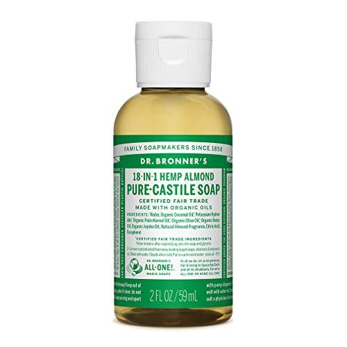 Dr. Bronner's - Pure-Castile Liquid Soap (Almond, Travel Size, 2 Ounce) (Dr Bronners Pure Castile Liquid Soap Almond)