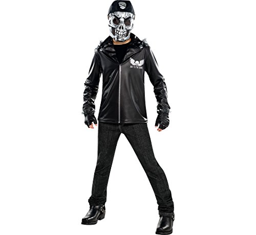 Amscan Boys Bad to The Bone Costume - X-Large (14-16), Black 841585 ()