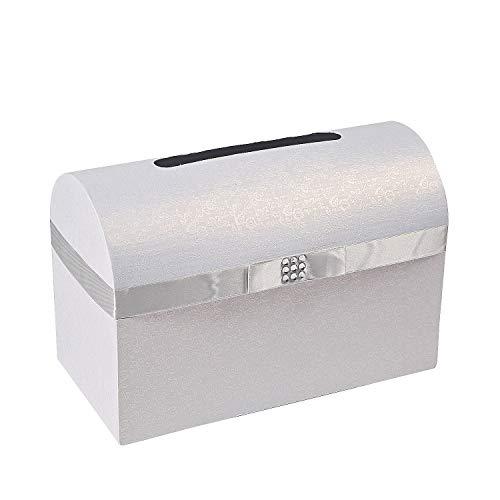 - Silver Bow Wedding Card Box