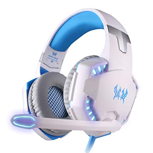 WANG XIN E-Sports Game Headset Vibration Subwoofer Computer Headset Headset USB Notebook 7.1 (Color : White)
