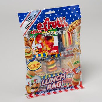 Set of () - 2.7oz Gummy Lunch Packs! - Lunch Themed Blend - Bite Size - Easy to Carry - Inividually Wrapped!