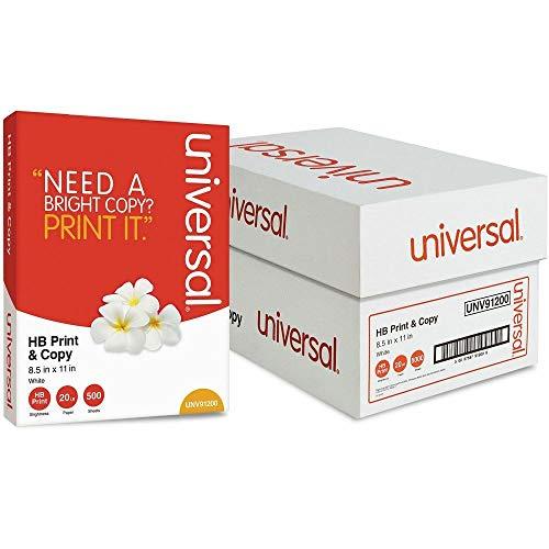 Universal 91200 Multipurpose Paper 95-96 Bright 20 lb, 8.5x11 White 5000 Shts/CT