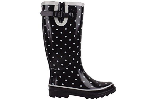 Sunville Dot New Rubber Boots Polka Rain Women's Brand 7f4qwv7