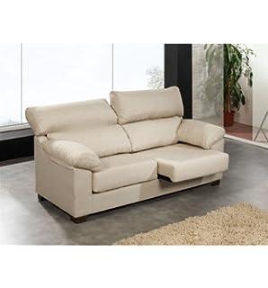 Sofá de dos plazas con asientos deslizantes y cabezales ...