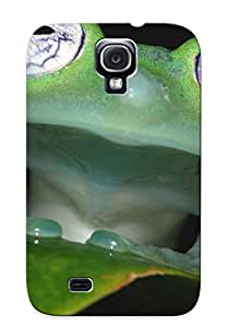 Exultantor Durable Defender Case For Galaxy S4 Tpu Cover(animal Frog) Best Gift Choice