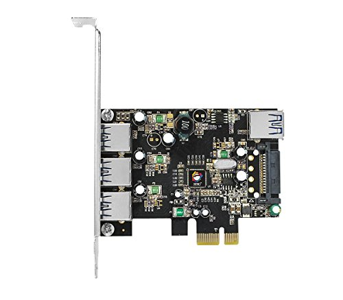 SIIG Legacy & Beyond JU-P40611-S2 Superspeed DP 4 Ports PCI-e to USB 3.0 High Performance Adapter Card With 15Pin SATA Power, 3x9-pin External and 1x9-pin Internal Connector by SIIG (Image #2)