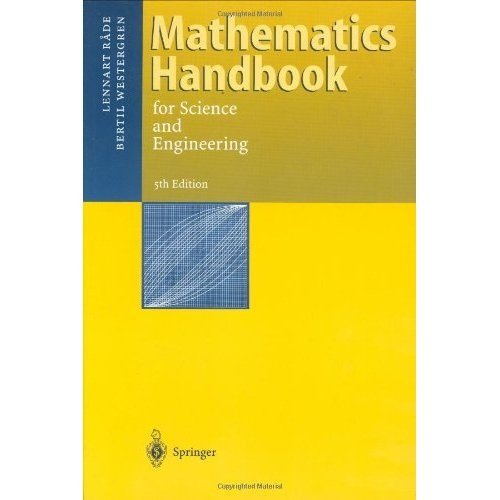 Mathematics Handbook For Science And Engineeing