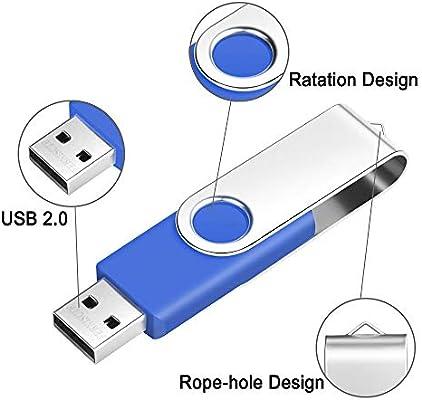 8GB Pendrive 2 Piezas Unidad Flash USB Portátil y Práctico Memorias USB 8GB Flash Drive USB 2.0 Multicolor (Negro, Azul) Almacenamiento de Datos Unidad USB Regalo para Niño/Hijo/Hija by FEBNISCTE: Amazon.es: Electrónica