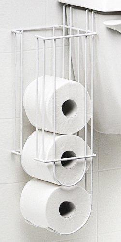 Taymor White Hanging Over the Toilet Tank Tissue Holder