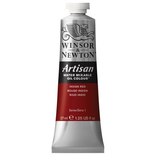 - Winsor & Newton Artisan 37ml Water Mixable Oil Colour Tube - Indian Red by Winsor & Newton