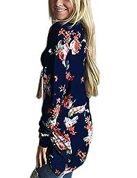 KISSMODA Women Casual Long Sleeve Open Front Draped Loose Cardigan