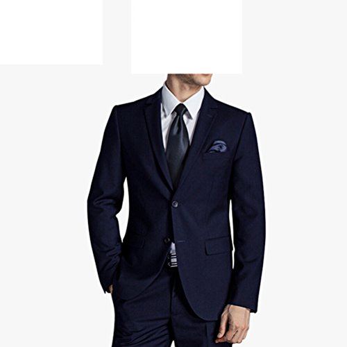 577Loby Men Business Suit Slim Fit Classic Male Suits Blazers Suit Two Buttons 2 Pieces(Suit Jacket+Pants) by 577Loby (Image #3)