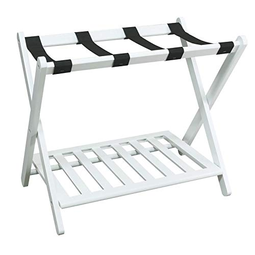 gage Rack for Guest Room Folding Suitcase Rack Collapsible Carry On Holder Bedroom, Sturdy Wooden ()