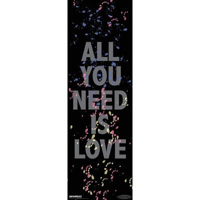 amazon com akomplice all you need is love poster poster print