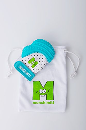 Malarkey Kids Munch Mitt, Aqua Blue, One Size