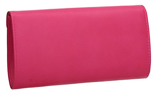 Ladies Prom Harley Envelope Celebrity Floral Fuchsia Evening Wedding SWANKYSWANS Clutch Out Bag Night Party wzqU1TT