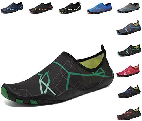 CIOR Men and Women's Barefoot Quick-Dry Water Sports Aqua Shoes with 14 Drainage Holes for Swim, Walking, Yoga, Lake, Beach, Garden, Park, Driving, Boating