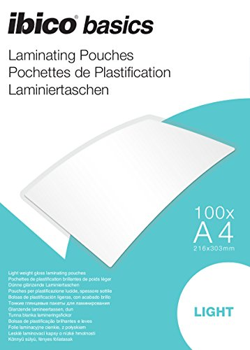 Ibico Basics A4 Light Laminating Pouch (Pack of 100) (Acco Reference Binder)